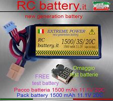 Batteria 1500 mah 11.1V 3S 20-40C  - Per tutti gli RC (Alternative TURNIGY)