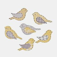 Wooden Birds 6 Pack Self Adhesive Embellishments Craft For Occasions C2292