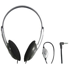 Lightweight Stereo Headphones with Volume Control (Lead Length 1.2m)