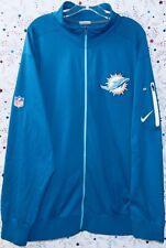 Miami Dolphins Nfl Kraig Urban #60 Nike Dri-Fit Team Issued Blue Jacket Size 3xl
