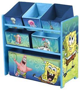 Delta Children 6-Bin Toy Storage Organizer, Spongebob Squarepants