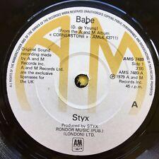 STYX - BABE / I'm O.K A&M ams-7489 ex-condition