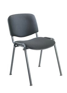 Office Conference Reception Visitor Stackable Stacking Chair Charcoal Grey