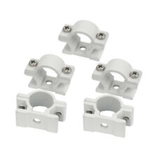25mm Dia Wall Mounted Aluminium Alloy Pipe Clip Clamp Fastener 5pcs