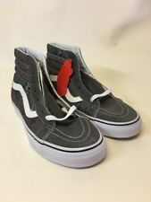 VANS SK8 Hi Reissue (Dirty Bird) Pewter/True White Men's Skate Shoes SIZE 8.5