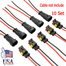 10 sets Kit 2 Pin Super seal Waterproof Electrical Wire Connector Plug car