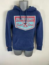 MENS SUPERDRY BLUE JUMPER LONG SLEEVED CREW NECK PULL OVER SWEATER SIZE SMALL