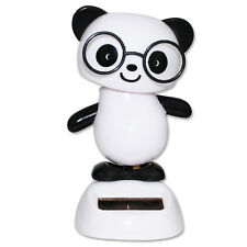 Dancing Panda with Glasses Beach Solar Toy Home Decor Birthday Gift US Seller