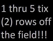 12/24 Denver Broncos @ Oakland Raiders - 1 thru 5 tickets Sect 136 Row 2 !!!