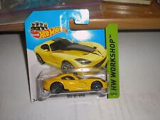 2013 SRT Viper #203/250 - HTF SHORT CARD - 2014 Hot Wheels Workshop