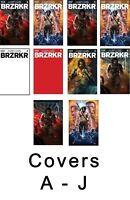 BRZRKR 1 1:50 (x2) 1:25 (x2) 1:10 & Covers A-E 3/24 foils A-J