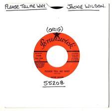 """Soul. Jackie Wilson. por favor, dime por qué/su uno y sólo amor. EE. UU. Orig 7"""".en muy buena condición+"""