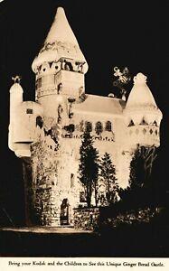 Vintage Postcard 1931 RPPC Ginger Bread Castle National Biscuit Co. Hamburg NJ