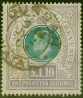 Natal 1902 £1.10s Green & Violet SG143 Ave Used