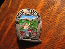Iron Horse Rodeo Lapel Pin - Vintage 1996 Harley Davidson Motorcycle Biker Rally