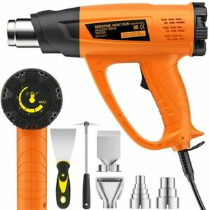 Hot Air Heat Gun 2000W Variable Temperature 60- 600 with 2 Speeds 4 Nozzles