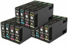 12 T702 non-OEM Ink Cartridges For Epson WorkForce Pro WP-4545DTWF WP-4595DNF
