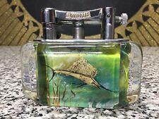 NICE Vintage Dunhill Aquarium Lighter Sailfish & Tuna