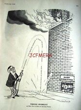 "1965 Jim Callaghan Labour Incomes Policy Punch Cartoon Print - ""Wrong Hydrant"""