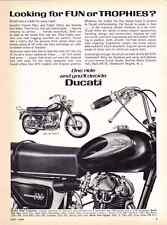 1965 DUCATI 160cc MONZA JR / 250cc MONZA MOTORCYCLE ~  ORIGINAL PRINT AD