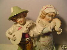 Ceramic Statue,Art Cream wh,pink,gr.  Turn of Century Hand Painted,guess Europe