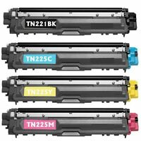 4 PACK  BROTHER TN-221 TN225 HIGH YIELD Brother HL-3140cw, HL-3170cdw, MFC-9130c