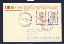 46723) KLM FF Amsterdam - Las Palmas 5.11.60, Karte ab Belgien R!