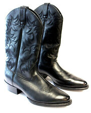 ARIAT Mens Leather Western Cowboy Boots Black Patterned 34770 Size 13D NEW  Z01