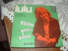 """LULU """" BOOM BANG A BANG """" EUROVISIONE'69   ITALY'69   RARO"""