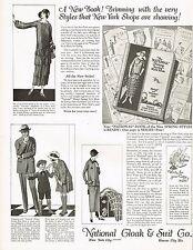 1920s BIG Vintage National Cloak & Suit Co. Style Fashion Art Print Ad