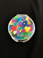 Personalized Expression Colorful Hearts Compact Mirror