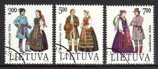 Lithuania - 1992 Folklore dresses - Mi. 508-10 FU