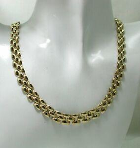 Vintage Lovely Heavy Quality 9 carat Gold Oval Brick Link Necklace