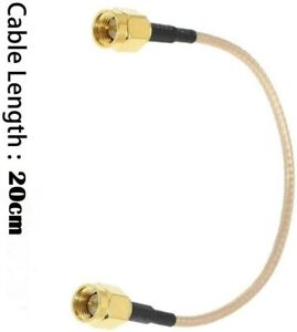 SMA Male to SMA Male Connector 20cm RG316 Cable Pigtail for Wi-Fi extension  x 1