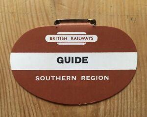 Original British Railways Southern Region card Guide Lapel Badg