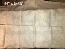 Unused beautiful Vintage tablecloth and 4 matching napkins Off White