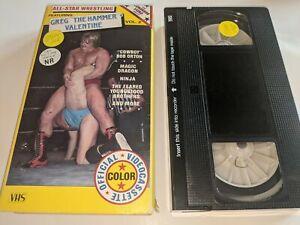 ALL-STAR WRESTLING VOL. 2 Greg The Hammer Valentine VHS Video Bret Hart RARE OOP