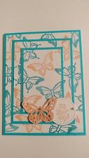 Handmade ITS YOUR DAY card, Stampin Up Nature's Perfection,Turquoise Butterfly