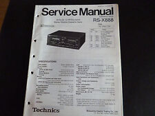 ORIGINALI service manual TECHNICS rs-x888