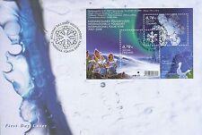 Finland 2007 FDC Sheet - International Polar Year - Snow - Snowflake Hologram