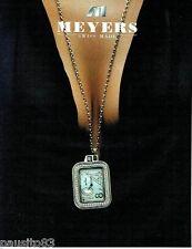 PUBLICITE ADVERTISING 126  2005  Meyers  horloger joailier montre