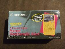 RadioShack Sports 7-Channel Digital Pocket Weather Radio Alert Outdoor NIB vtg