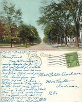 ERIE PA WEST 6th STREET FROM CITY PARK 1931 ANTIQUE POSTCARD