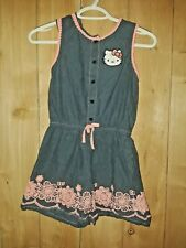 Hello Kitty Girls Denim Blue & Pink Shorts Jumper Size 10/12