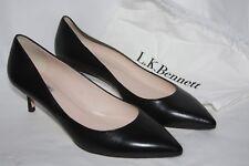 L.K. Bennett Audrey black kid leather kitten heels women's 12 euro 42