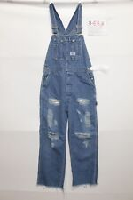 Dungarees Big Smith ( Cod. S583) SIZE S Jeans Used Vintage Customized with Rips