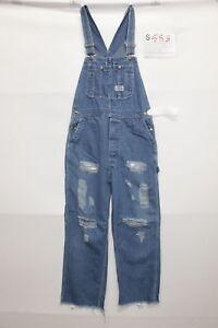 Salopette BIG SMITH (Code S583) TAILLE S Jeans D'Occassion Vintage Déchirures