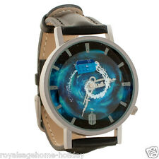 2207 Dr. Who Flying Tardis Time Vortex Watch Jewelry 38mm Diameter Sci Fi BBC