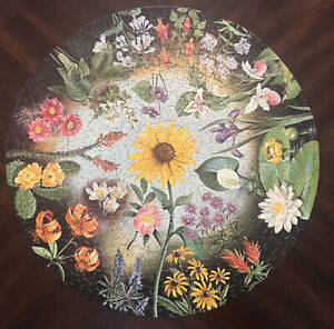 Springbok Wild Flowers Circular Puzzle -Vintage, 1965 - Tested & Complete! Round