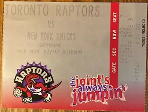 Toronto Raptors vs New York Knicks Larry Johnson 27 pts SKYDOME great stub 93-70